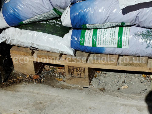 How to store wood pellet bags