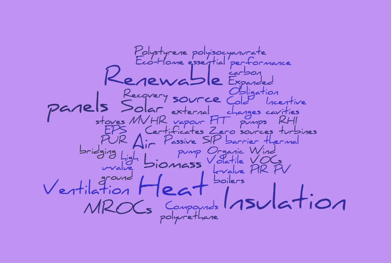 Get all the eco jargon and terminology explained in simple to follow term.