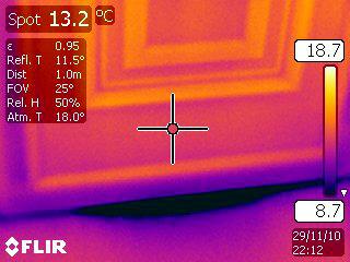 Thermal Image Below Poor Fitting PVC Front Door