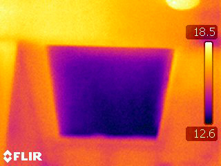 Thermal Image of Unheated Loft Hatch