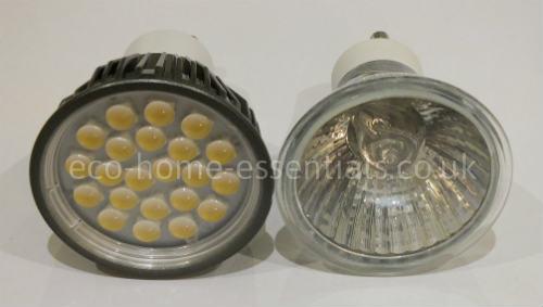 LED vs Halogen GU10 bulbs review