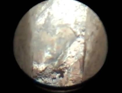 Rusting Wall Tie Through Boroscope